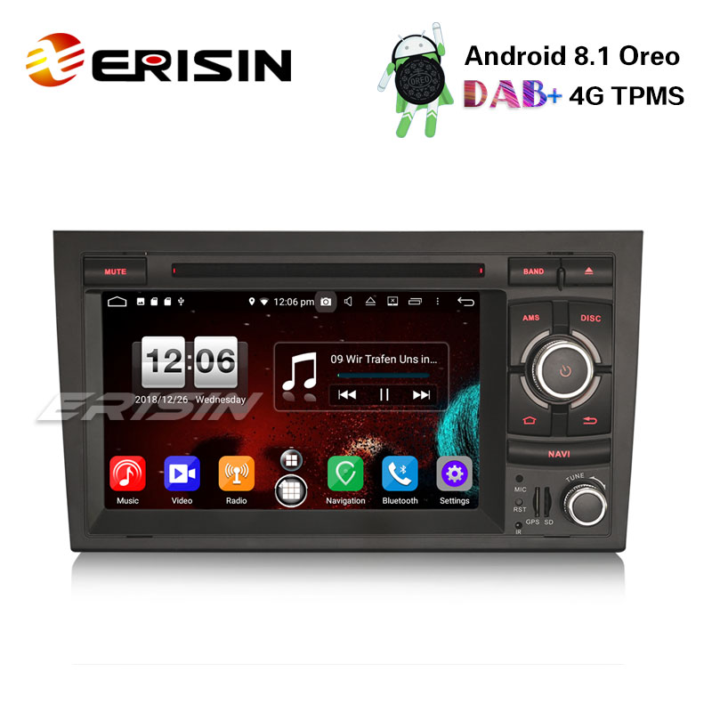 Autoradio GPS WiFi dvb-t2 OBD 4g AUDI a4 s4 rs4 b7 b9 SEAT EXEO Android 8.1 DAB